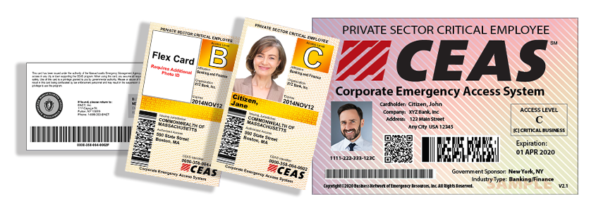 CEAS cards with JIT placard