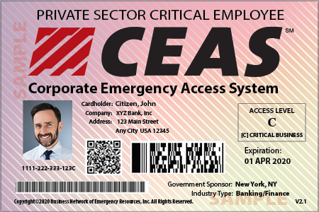 CEAS JUST-IN-TIME Placards for Enhancement Access Control