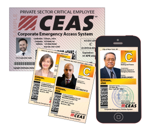 CEAS program credentialling for business recovery access.